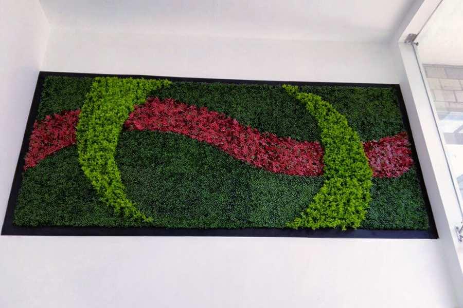 Muro verde sintético decorativo